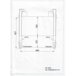 FENDT 916 Intercooler/oliekøler